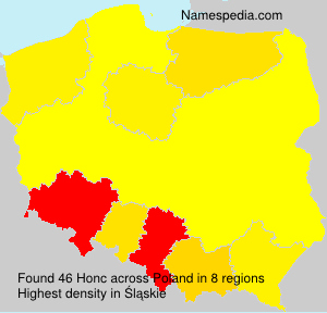 Surname Honc in Poland