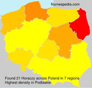 Surname Horaczy in Poland