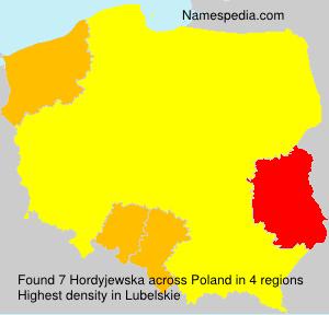 Surname Hordyjewska in Poland