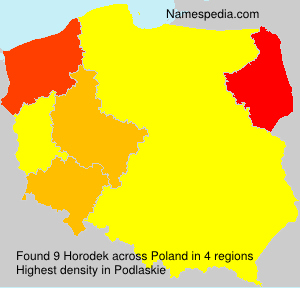 Surname Horodek in Poland