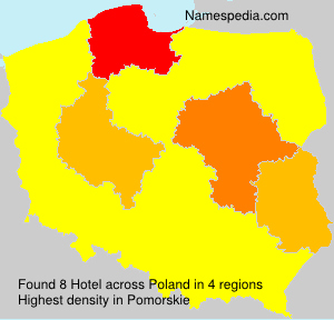 Surname Hotel in Poland