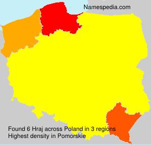 Familiennamen Hraj - Poland