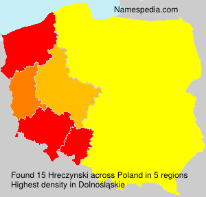 Surname Hreczynski in Poland