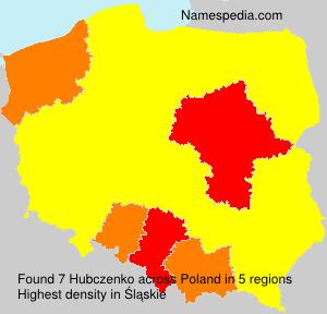 Surname Hubczenko in Poland