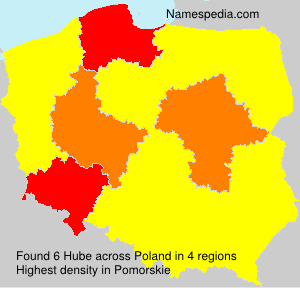 Surname Hube in Poland