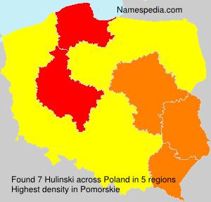 Surname Hulinski in Poland