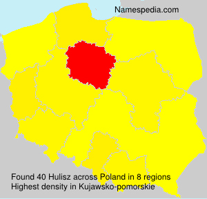 Surname Hulisz in Poland