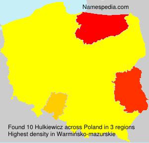 Surname Hulkiewicz in Poland