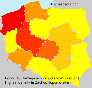 Surname Humieja in Poland