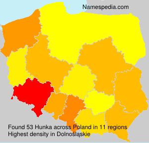 Surname Hunka in Poland