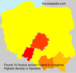 Familiennamen Huziuk - Poland