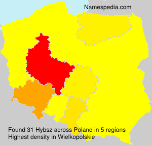 Surname Hybsz in Poland