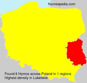 Familiennamen Hymos - Poland