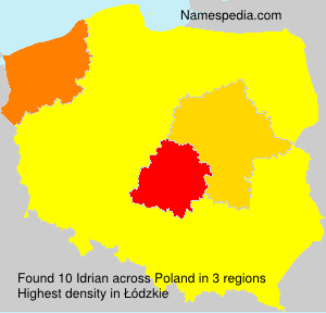 Surname Idrian in Poland