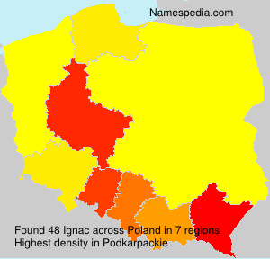 Surname Ignac in Poland