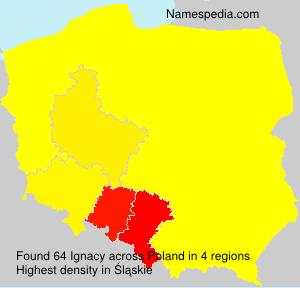 Surname Ignacy in Poland