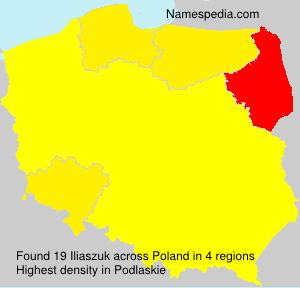 Familiennamen Iliaszuk - Poland