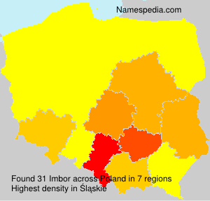 Surname Imbor in Poland