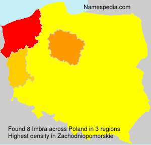 Surname Imbra in Poland