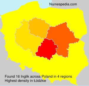 Surname Inglik in Poland
