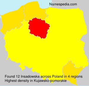 Familiennamen Insadowska - Poland
