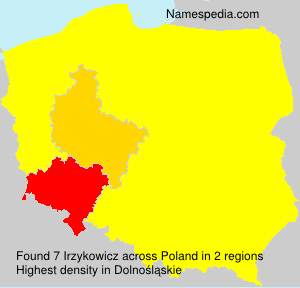 Surname Irzykowicz in Poland