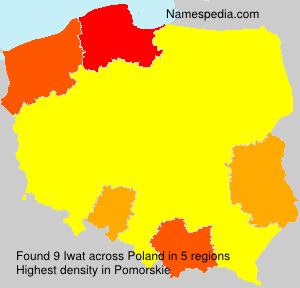 Surname Iwat in Poland