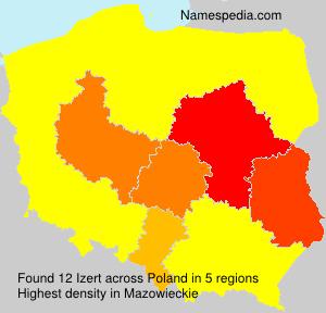 Surname Izert in Poland