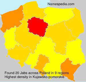 Familiennamen Jabs - Poland