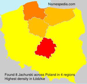 Surname Jachurski in Poland