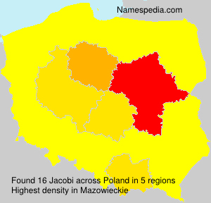 Surname Jacobi in Poland