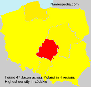 Surname Jacon in Poland