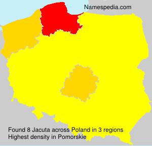 Surname Jacuta in Poland