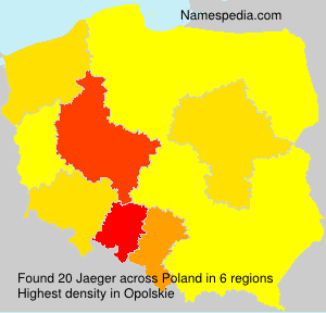 Surname Jaeger in Poland