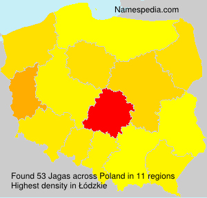 Surname Jagas in Poland