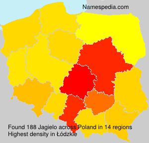 Surname Jagielo in Poland