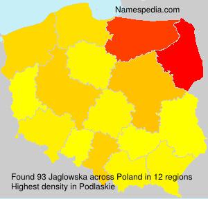 Surname Jaglowska in Poland