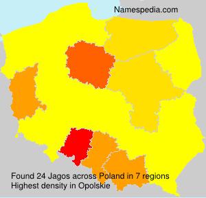 Surname Jagos in Poland