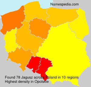 Familiennamen Jagusz - Poland