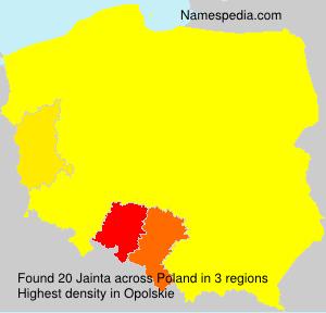 Surname Jainta in Poland