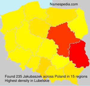 Surname Jakubaszek in Poland