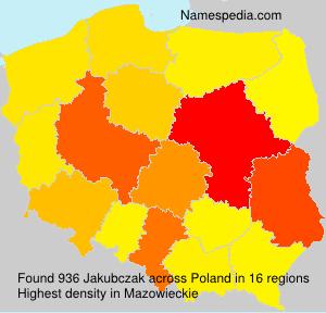 Surname Jakubczak in Poland