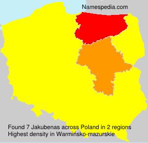 Surname Jakubenas in Poland