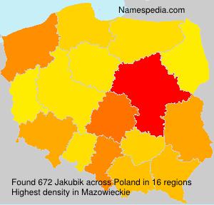 Surname Jakubik in Poland