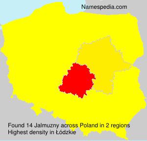 Familiennamen Jalmuzny - Poland