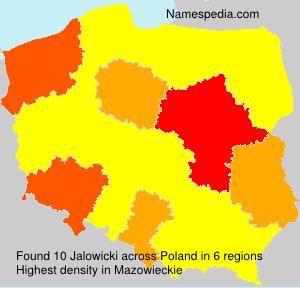 Surname Jalowicki in Poland