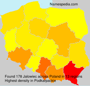 Surname Jalowiec in Poland