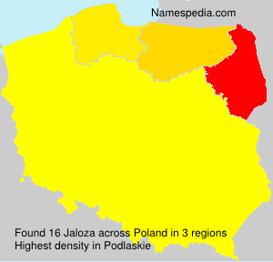 Familiennamen Jaloza - Poland