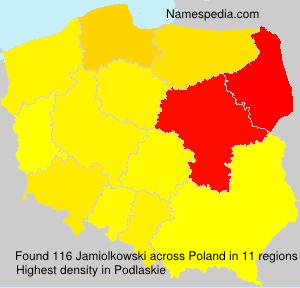 Surname Jamiolkowski in Poland