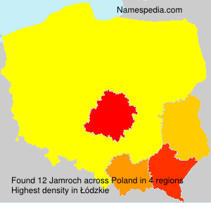 Surname Jamroch in Poland